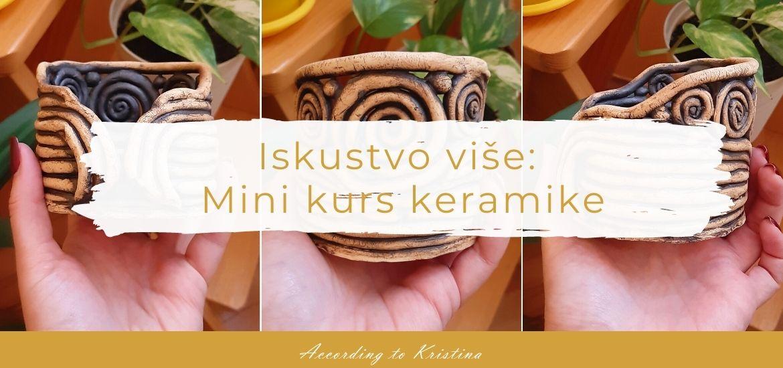 Mini kurs keramike © According to Kristina